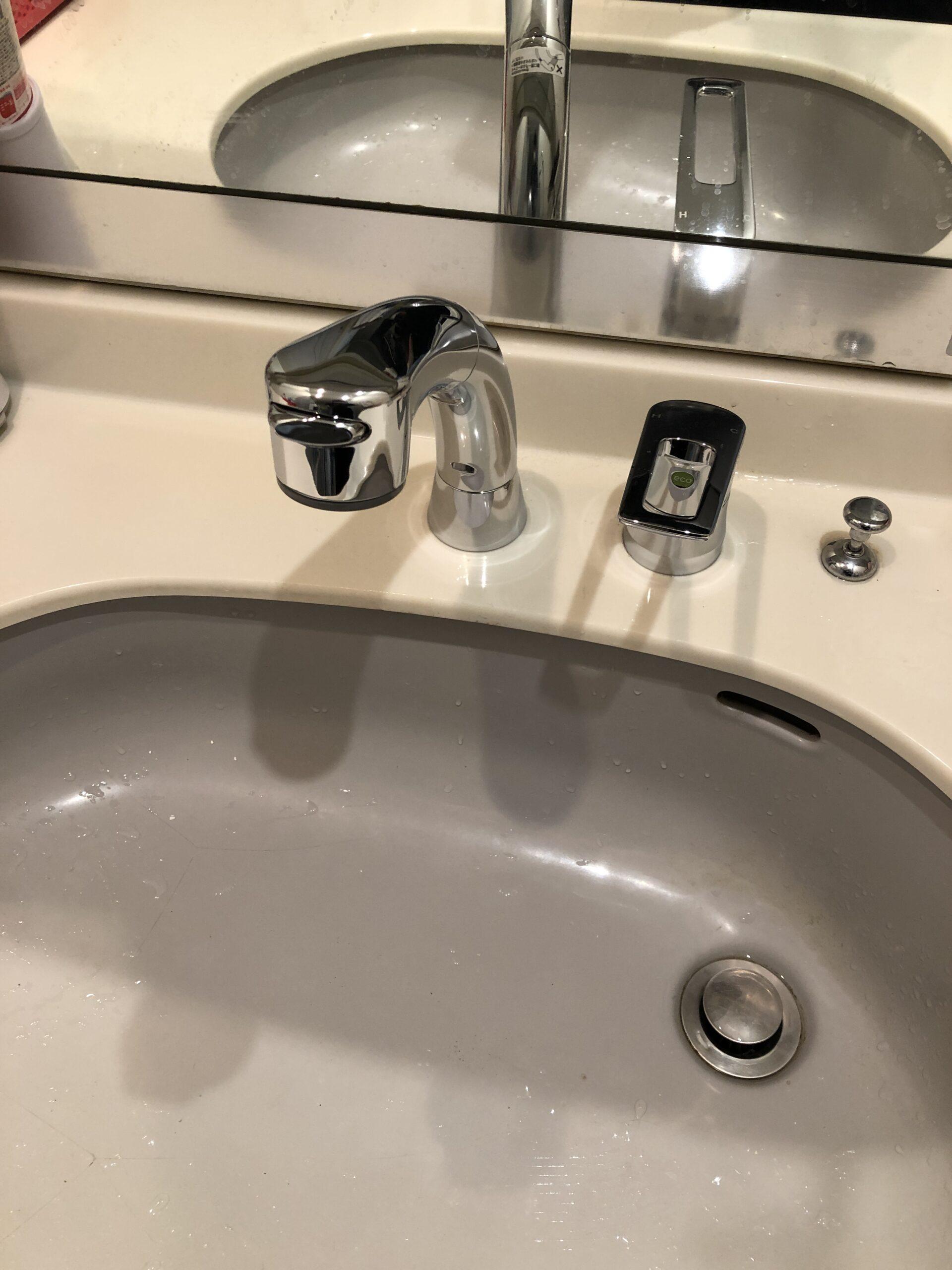 洗面水栓交換後の写真