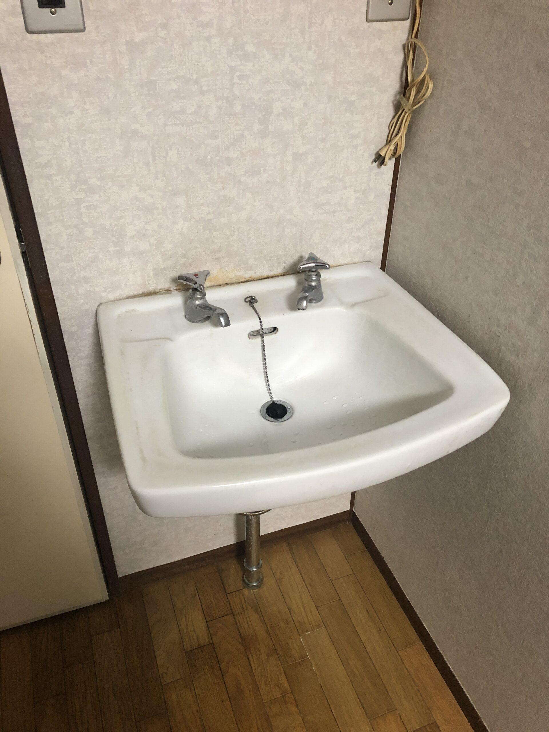 洗面台交換前の写真
