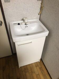 交換後の洗面台の写真