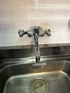 交換後キッチン水栓の写真
