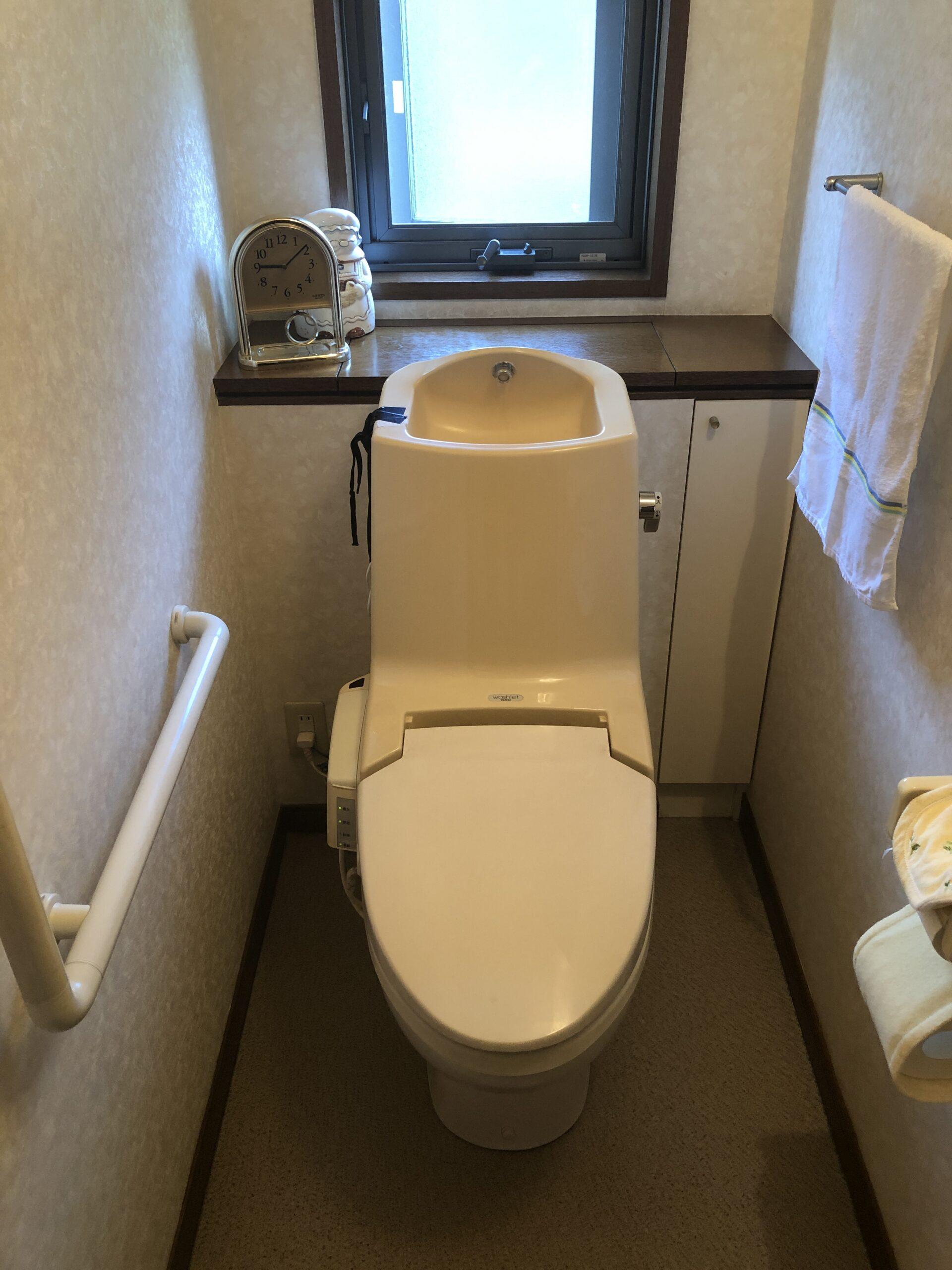 トイレ交換前の写真
