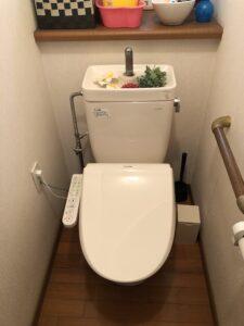 交換後温水洗浄便座の写真
